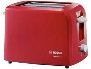 BOSCH Toster BOSCH CompactClass TAT3A014 (980W; kolor czerwony).