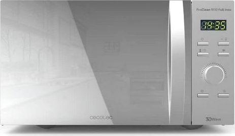 Kuchenka mikrofalowa Cecotec Mikrofalówka z Grillem Cecotec ProClean 9110 30 L 1000W Srebrzysty