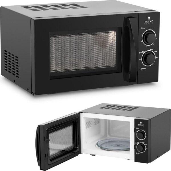 Kuchenka mikrofalowa Royal Catering Kuchenka mikrofalowa mikrowela 20 l 900 W czarna
